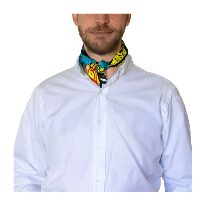 Pañuelo de cuello de hombre